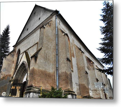 Fortress Metal Print featuring the photograph The Fortress Church 3 by Erika H