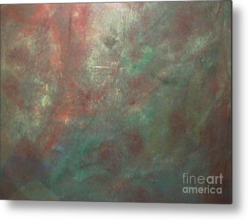 Abstract Metal Print featuring the painting The Gain by Guillermo Mason