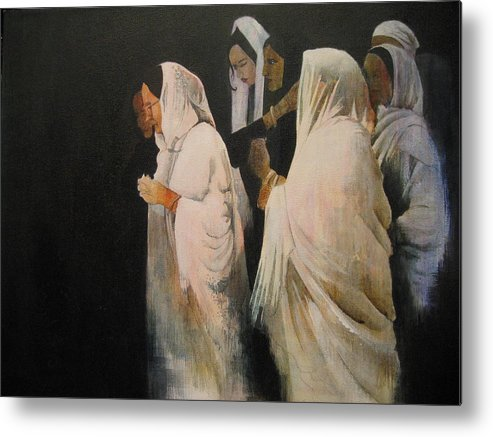 Indian Metal Print featuring the painting The Gathering by Victoria Heryet