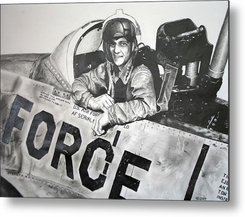 Military Metal Print featuring the drawing The Good Old Days by Darcie Duranceau