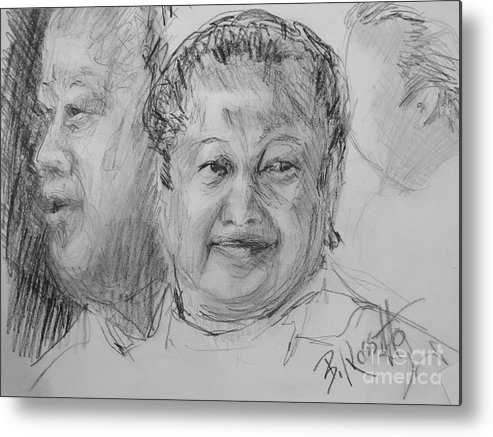 Prem Rawat Metal Print featuring the drawing The Greatest Muse by B Rossitto