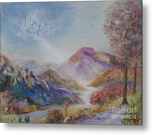 Landscape Metal Print featuring the painting The Invitation by Sabina Haas