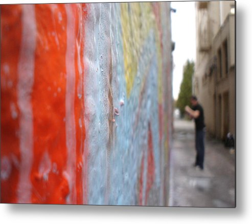 Urban Artwork Metal Print featuring the photograph The Layers Of Time by Chandelle Hazen