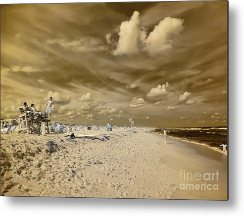 Lifeguards Metal Print featuring the photograph The Lifeguard Stand by Jeff Breiman