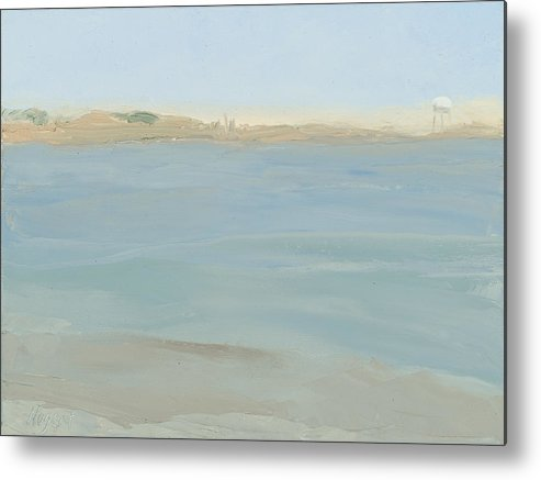 Seascape Metal Print featuring the painting The Little Beach by Karen Kappe Nugent