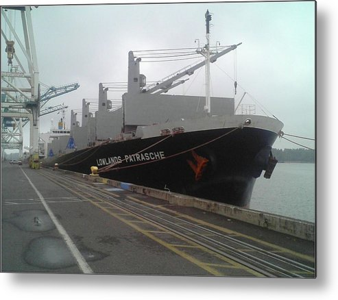 Lowlands Metal Print featuring the photograph The Lowlands Patrasche Ship At Port In Portland Oregon by Alan Espasandin