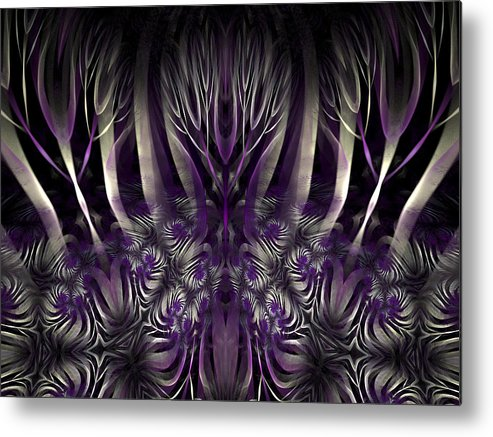 Fractal Art Metal Print featuring the digital art The Mulberry Forest by Amorina Ashton