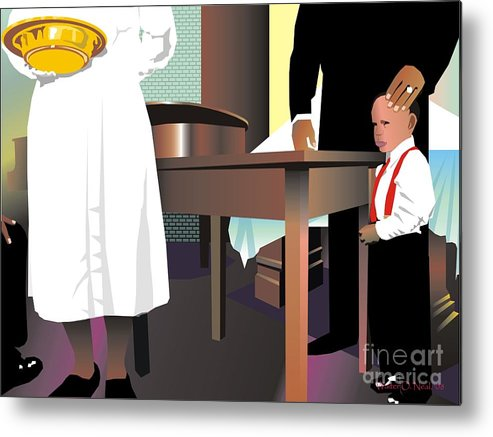 Church Metal Print featuring the digital art The Offering by Walter Oliver Neal