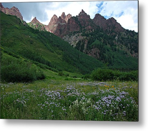 Maroon Bells Metal Print featuring the photograph The Other Side Of Maroon Bells 1 by Diana Douglass