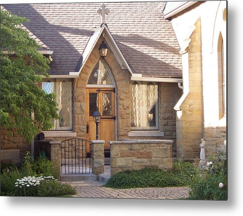 Church Metal Print featuring the photograph The Parish House by Donielle Boal