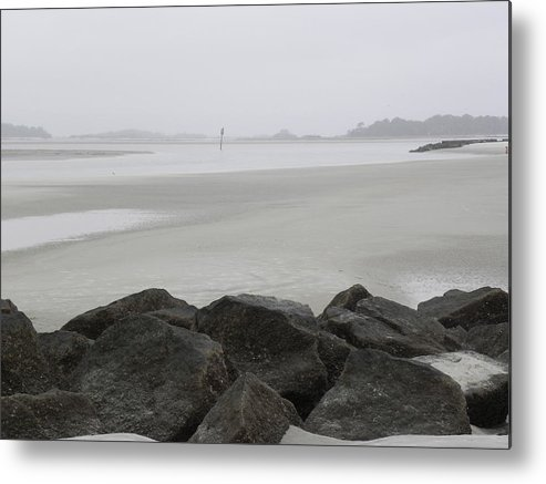 Tybee Island Channel Marker Metal Print featuring the photograph The Path Is Narrow by Kim Zwick