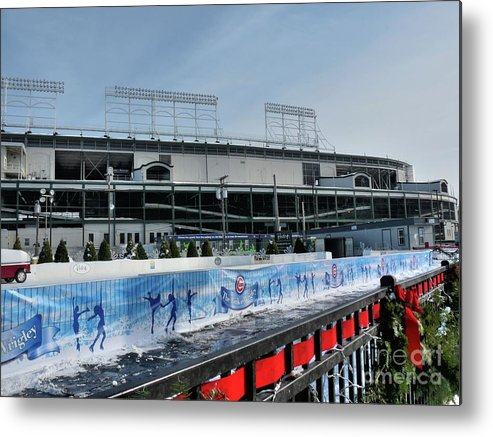 Skating Rink Metal Print featuring the photograph The Rink At Wrigley by David Bearden