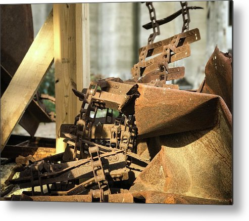 Industrial Metal Print featuring the photograph The Rust Belt by Bret Blakely