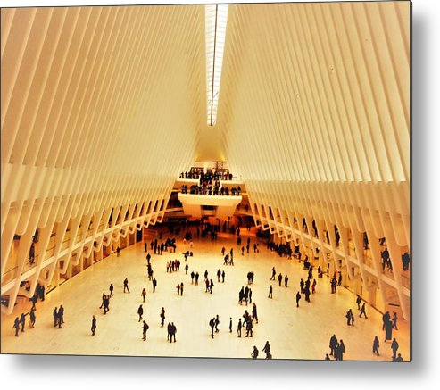 Ew York Metal Print featuring the photograph The Stunning Oculus In New York by Funkpix Photo Hunter
