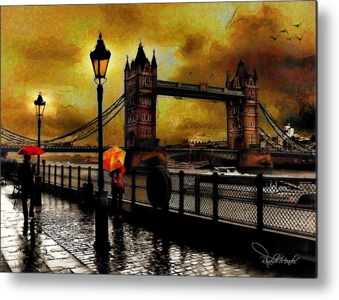 London Metal Print featuring the digital art The Tower Bridge As I See by Rinaldo Mendes
