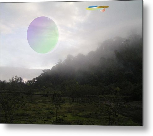 Landscape Sci-fi Metal Print featuring the photograph The Traveler by Giles b Liddell
