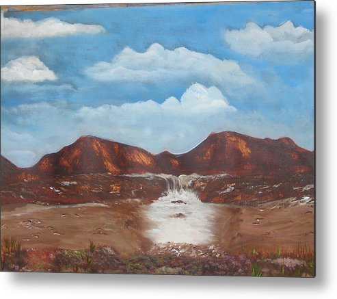 Acrylic Paintings Metal Print featuring the painting The View by Allison Prior