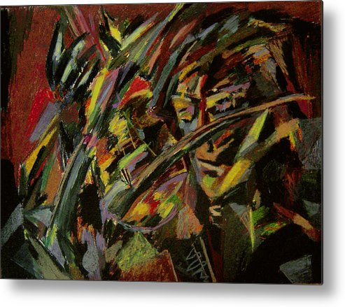 Fantasy Metal Print featuring the painting The Violinist by Tadeush Zhakhovskyy