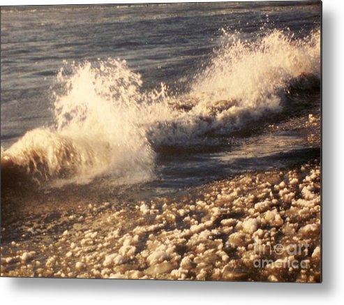 Waves Metal Print featuring the photograph The Waves Of Waverly Beach by Deborah Selib-Haig DMacq