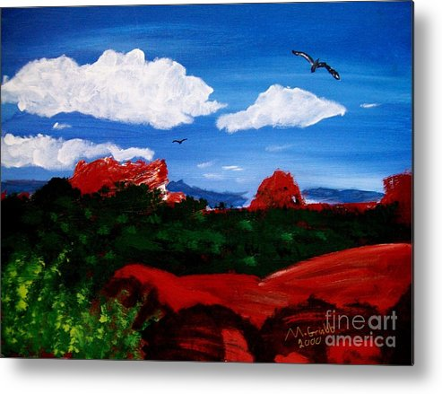Acrylic Metal Print featuring the painting The West by Michael Grubb