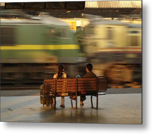 Train Metal Print featuring the photograph The World Going By by Padamvir Singh