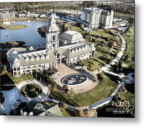 Golf Metal Print featuring the painting The World Golf Village by Addison Fitzgerald