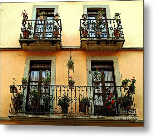 Darian Day Metal Print featuring the photograph Tiered Balconies by Mexicolors Art Photography