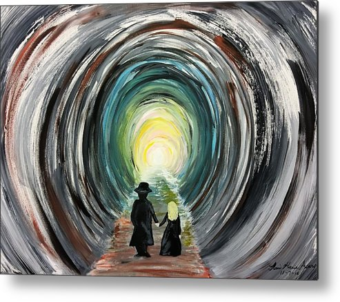 Space Metal Print featuring the painting Time by Nani Marie