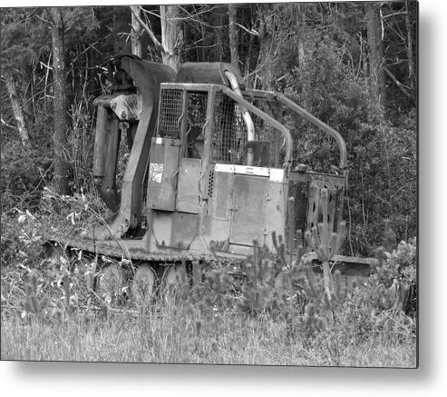 Equipment Metal Print featuring the photograph Tired Iron by Angi Parks