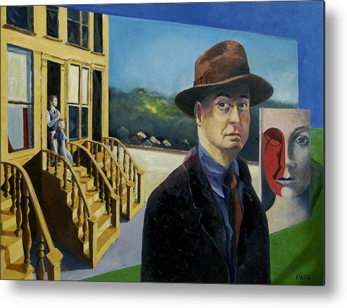 Hopper Metal Print featuring the painting To Hopper From Papa by Ralph Papa