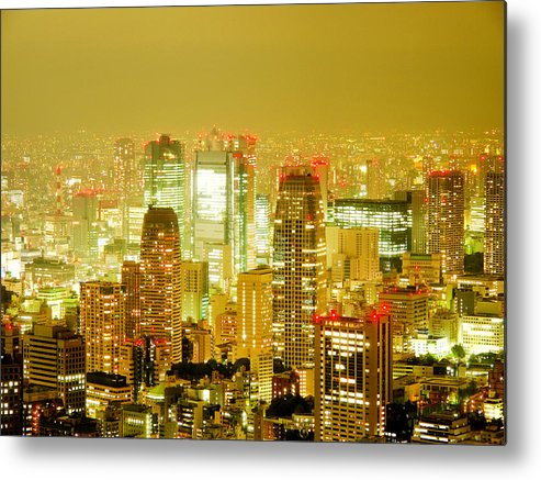 City Metal Print featuring the photograph Tokyo At Night. Pic. 2 by Oleg Volkov