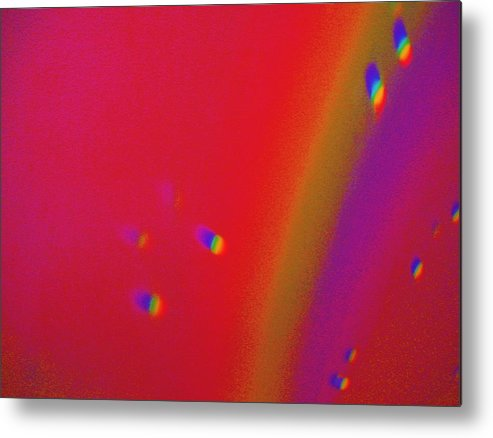 Fill Like Setting On Top Of The Rainbow. Metal Print featuring the painting Top Of The Rainbow by Nereida Slesarchik Cedeno Wilcoxon