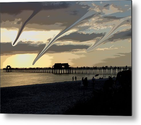 Abstract Metal Print featuring the photograph Tornado Watch by Florene Welebny