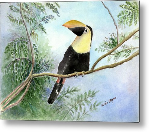 Toucan Metal Print featuring the painting Toucan by Arline Wagner