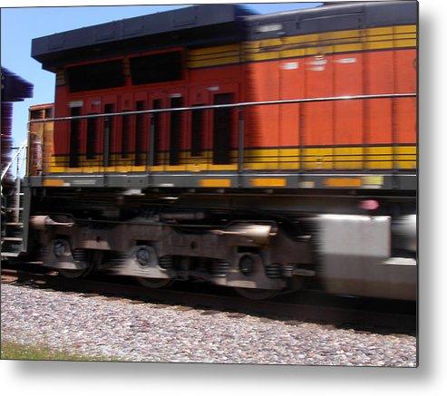 Train Metal Print featuring the photograph Train In Motion by Anne Cameron Cutri