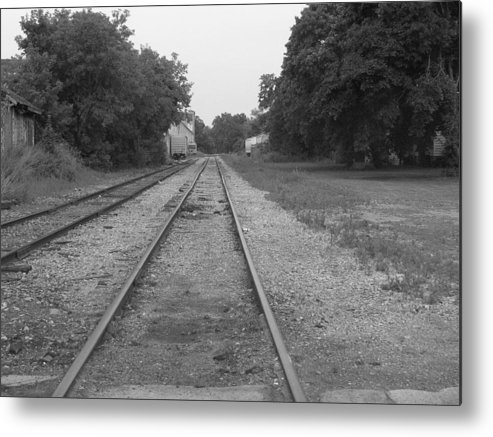 Train Metal Print featuring the photograph Train To Nowhere by Rhonda Barrett