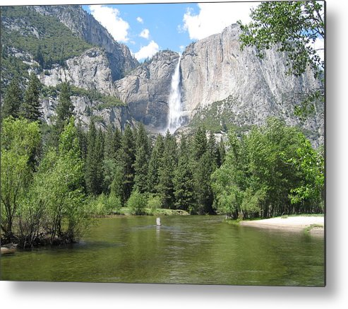 Waterfalls Metal Print featuring the photograph Tranquil Waterfalls by Jerry Patchin