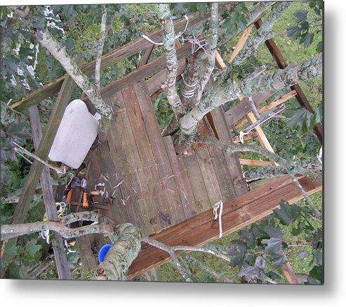 Tree House Metal Print featuring the photograph Tree Fort by Richard Payer