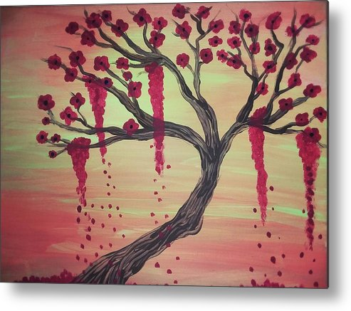 Tree Metal Print featuring the painting Tree Of Desire 2 by Vale Anoa'i