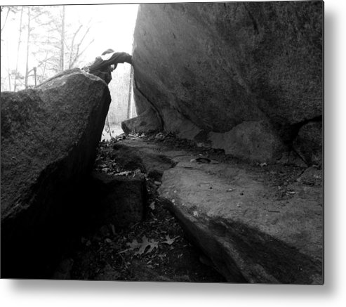 Rocks Metal Print featuring the photograph Triumph by Leigh Odom