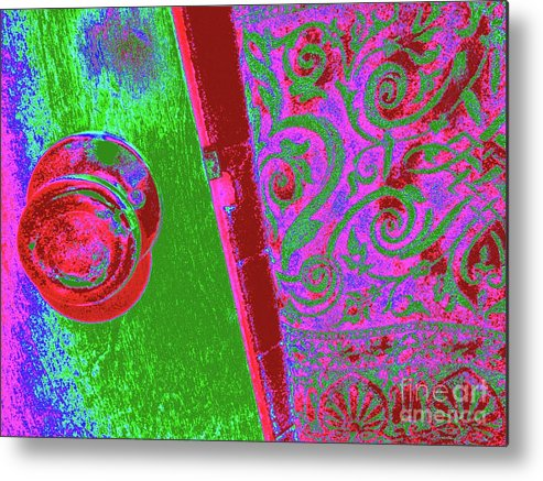 Doorknob Metal Print featuring the photograph Tropical Doorknob by Chuck Taylor