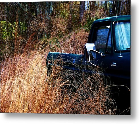 Truck Metal Print featuring the photograph Truck In The Feild by Beverly Hammond