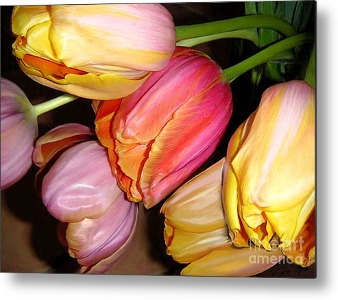 Nature Metal Print featuring the photograph Tulips All Together by Lucyna A M Green