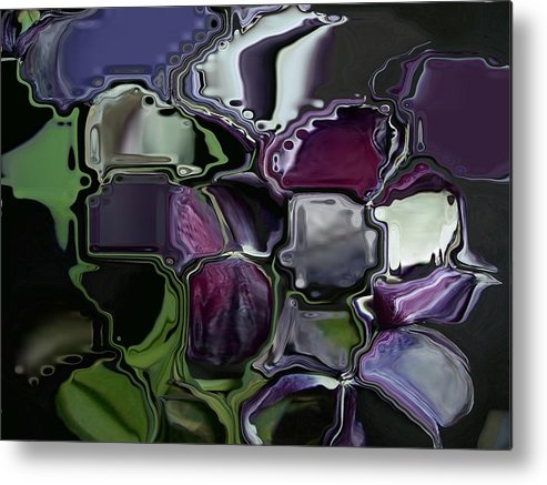 Flower Abstract Metal Print featuring the digital art Tullips by Patricia Williams