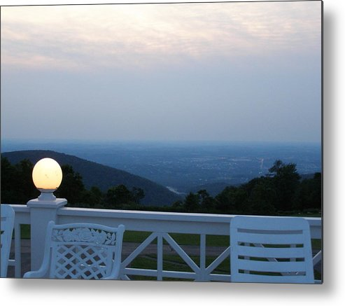 Porch Metal Print featuring the photograph Twilight by Evelynn Eighmey