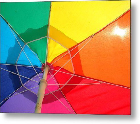 Umbrella Metal Print featuring the photograph Umbrella In Sunlight by Gregory Smith