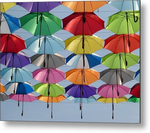 Umbrella Metal Print featuring the photograph Umbrella Rainbow by Billy Soden