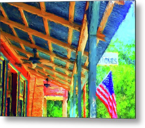 Micanopy Metal Print featuring the digital art Under The Roof by Nancy Faircloth