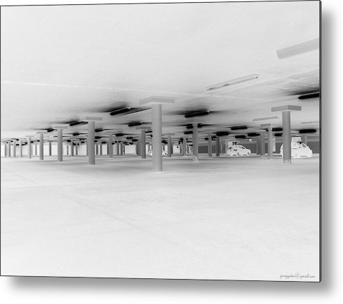 Parking Lot Metal Print featuring the photograph Underground Parking Lot by Gerard Yates