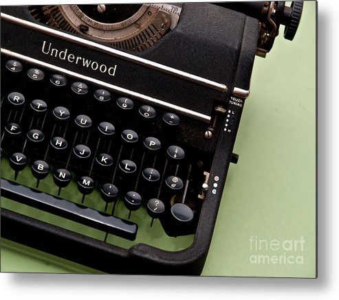 Typewriter Metal Print featuring the photograph Underwood by Valerie Morrison